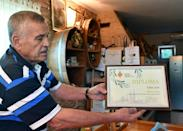 Jure Susac, 66, is a winegrower who also has olive trees now