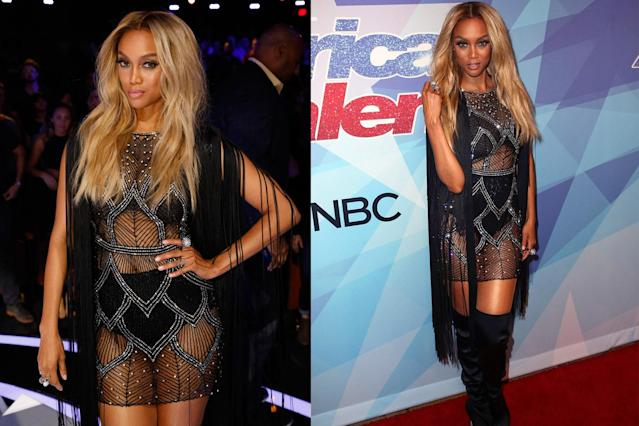 Tyra Banks slays on the red carpet during <em>America's Got Talent</em>'s finale week.(Photo: Getty Images)