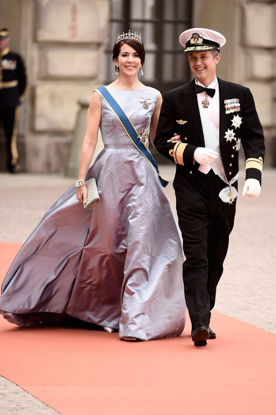 """<p>Before she became Mary, Crown Princess of Denmark, the Australian native met Prince Frederik at a bar in Sydney, Australia. At the time, Donaldson was working in public relations and became a project consultant, and when she met the prince he introduced himself simply as """"Fred."""" Four years later, the royal couple tied the knot in Copenhagen. </p>"""
