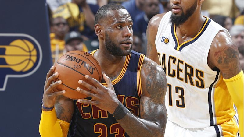 LeBron James is still very good at chase-down blocks, destroys Thad Young's soul