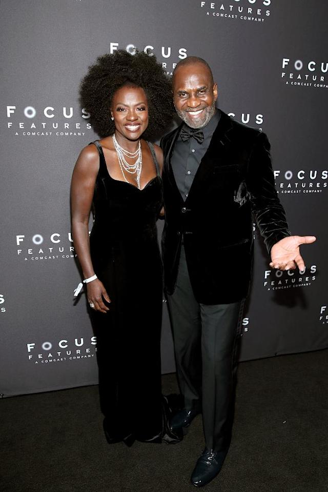 <p>Viola Davis and Julius Tennon attend the Focus Features Golden Globe Awards after-party. (Photo: Phillip Faraone/Getty Images) </p>