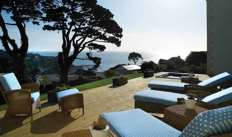 Start your day with a deep breath of sea air on the terrace at the Fowey Hall Hotel (Fowey Hall Hotel)