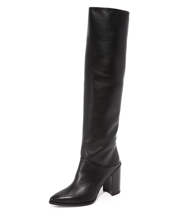 "<p>We love the slouchy fit of these boots from Stuart Weitzman for a boho-chic, relaxed look.</p> <p>$735 | <a rel=""nofollow"" href='https://ec.yimg.com/ec?url=http%3a%2f%2fwww.anrdoezrs.net%2flinks%2f7799179%2ftype%2fdlg%2fsid%2fISAH_shopbop%2fhttps%3a%2f%2fwww.shopbop.com%2fscrunchy-tall-boots-stuart-weitzman%2fvp%2fv%3d1%2f1564851529.htm%3ffolderID%3d2534374302112432%26amp%3bfm%3dother-shopbysize-viewall%26amp%3bos%3dfalse%26amp%3bcolorId%3d12867&t=1508648143&sig=eWdxCTb8T47RXQBW_4AE4Q--~D '>shopbop.com</a></p>"