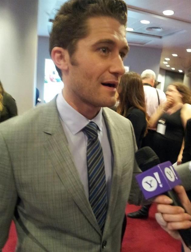 Celebrity photos: Matthew Morrison hugged us during our interview, it's a moment we'll replay in our minds forever.