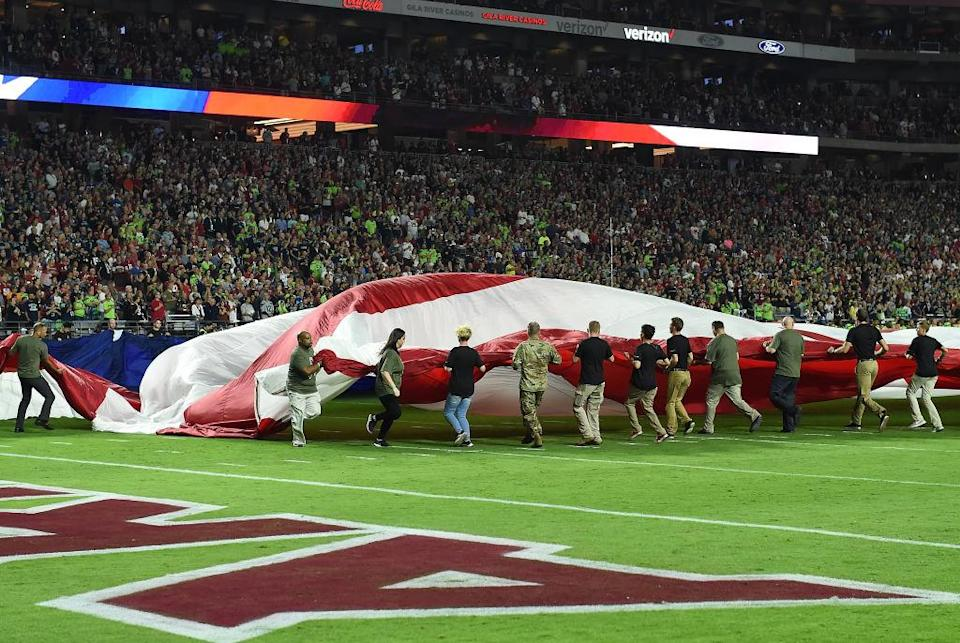 Protests during the national anthem continued in Thursday's preseason games. (Getty)