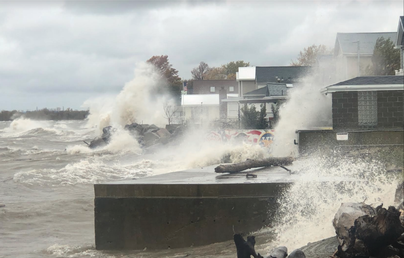 Waves along Lake Erie. Halloween 2019 source: Sean Crotty, submitted