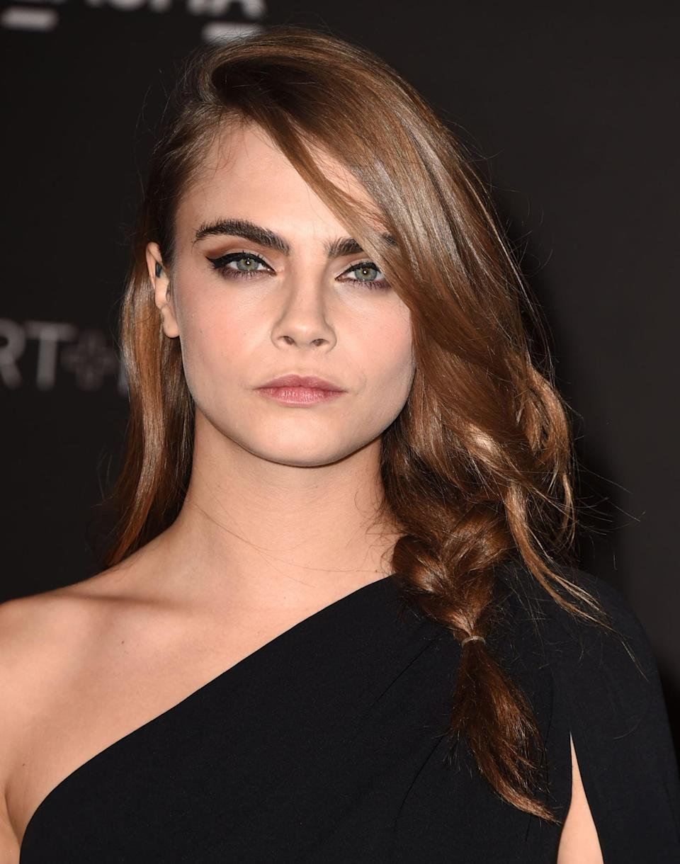 <p>Delevingne's love affair with braids started early, with this loose chunky side plait at the LACMA Art and Film Gala in November 2014. The look evoked the rumpled side braids seen at Alexander Wang's Spring 2010 runway show a few years earlier, a hairstyle that became so popular, it was replicated in magazines and on the red carpet for years to come. </p>