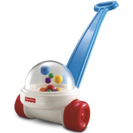 "<p class=""MsoNormal""><b><span>Fisher Price Corn Popper<br></span></b><br>Famous in the parenting world for driving mums and dads mad for more than 50 years, the Corn Popper encourages walking with colourful balls, sound and lights. The poppity-pop noise is sure to have adults quite infuriated some time before tots learn to walk unaided.</p>"