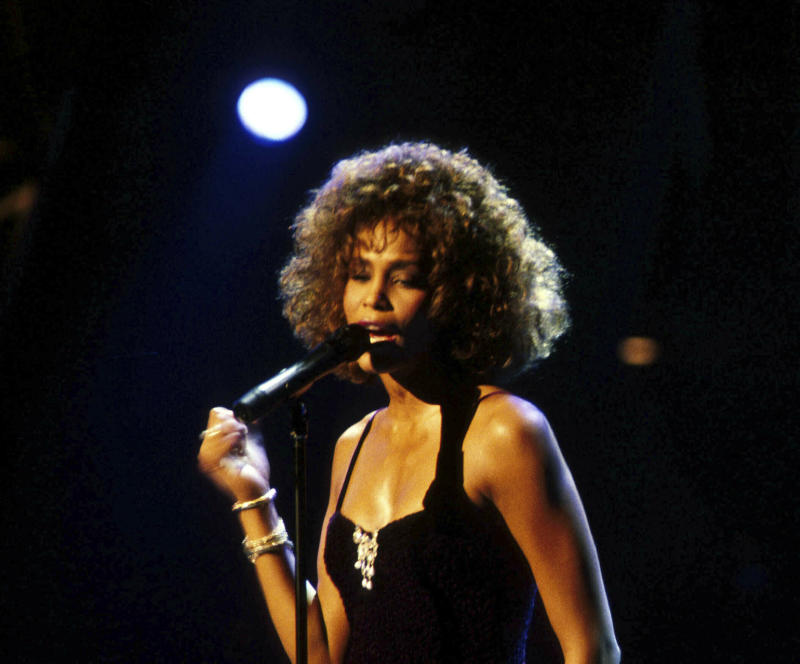 Whitney Houston died in 2012, but a hologram of the singer appeared on a British talk show. (Photo: AP)