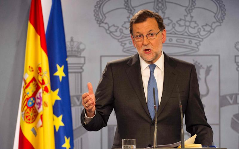 Spanish Prime Minister Mariano Rajoy - Credit: AFP