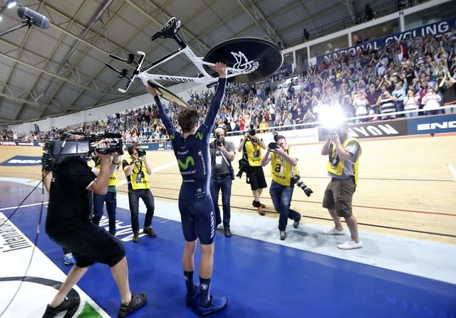 Cycling – Alex Dowsett 1 hour World Record Attempt – National Cycling Centre