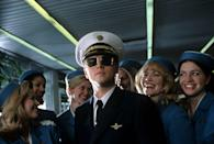 <p>Leonardo DiCaprio shared the screen with Christopher Walken and Tom Hanks when he portrayed Frank Abagnale, a real-life con man who evaded the FBI for years as he traveled across the country impersonating professionals and scamming banks with forged paychecks in this 2002 film.</p>