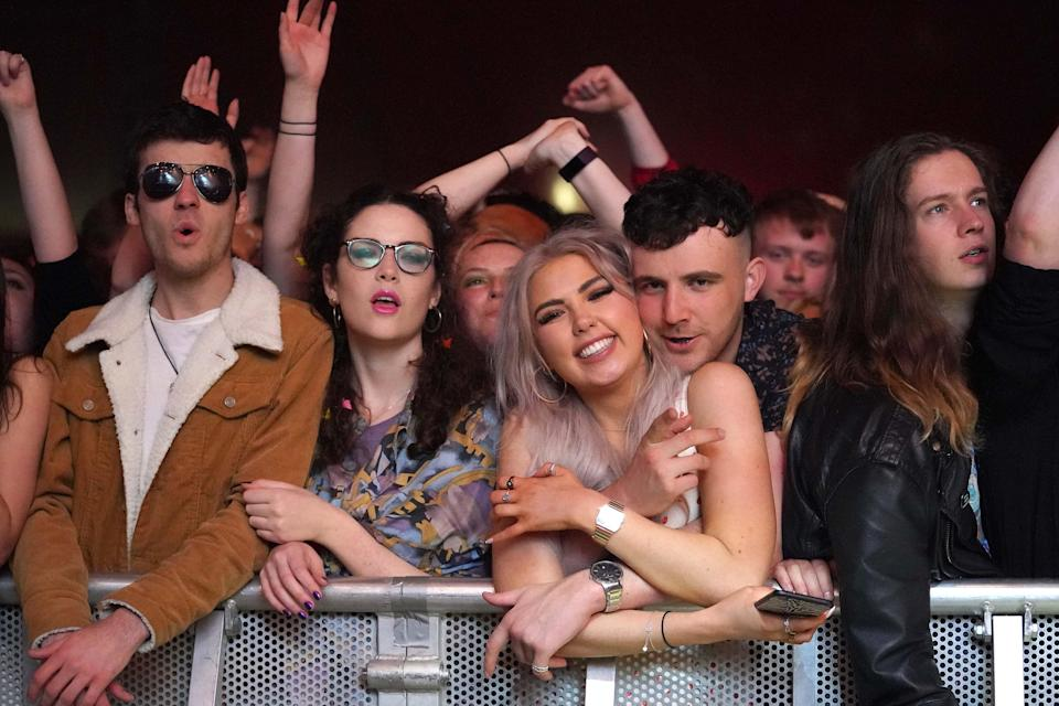 Crowds at a music festival in Sefton Park (PA Wire)