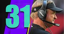 <p>With Reggie McKenzie fired, the Raiders' next general manager hire is a crucial one. Jon Gruden will still have the power, but he needs a strong personnel man that he respects to guide him into a better offseason than he had in 2018. (Jon Gruden) </p>