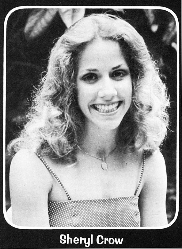 """<p>Singer Sheryl Crow made her own dress for her 1980 senior prom at Kennett High School in her hometown of Kennett, Mo. Her date, Brian Mitchell, <a href=""""http://www.semissourian.com/story/53840.html"""" rel=""""nofollow noopener"""" target=""""_blank"""" data-ylk=""""slk:reminisced about the evening"""" class=""""link rapid-noclick-resp"""">reminisced about the evening</a> in an interview with the local newspaper in 2001. """"She was extremely proud of [having made the dress], and nobody knew it,"""" Mitchell said. """"It was the prettiest dress on the prettiest girl there."""" To top it all off, Crow was named prom princess. <i>(Photo: Seth Poppel/Yearbook Library)</i></p>"""