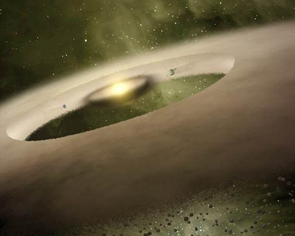 Birth of Baby Planets Spotted Around Distant Star