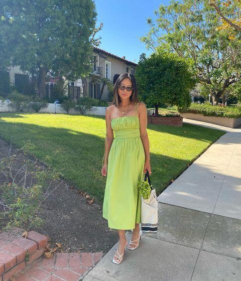 "<p>Aimee is a vet in the fashion world and just an overall icon when it comes to curating chic ensembles. The woman has her own line of clothing, <a href=""https://www.shop.songofstyle.com/"" rel=""nofollow noopener"" target=""_blank"" data-ylk=""slk:Song of Style"" class=""link rapid-noclick-resp"">Song of Style</a>, that's available at Revolve. If that doesn't tell you that she's got major style game, I don't know what will.</p><p><a href=""https://www.instagram.com/p/CDHESeZnt-E"" rel=""nofollow noopener"" target=""_blank"" data-ylk=""slk:See the original post on Instagram"" class=""link rapid-noclick-resp"">See the original post on Instagram</a></p>"