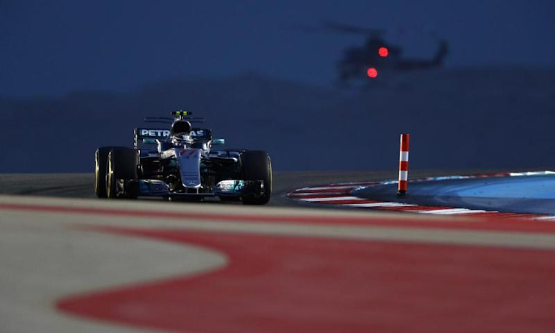 Valtteri Bottas during qualifying in Bahrain.