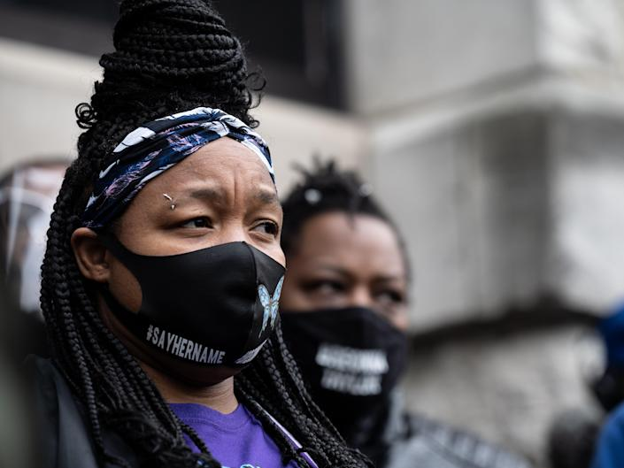 <p>Tamika Palmer, whose daughter Breonna Taylor was killed in March 2020</p> (Getty)