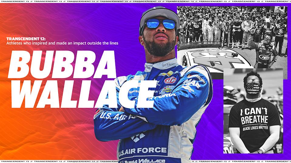 Bubba Wallace (Yahoo Sports illustration)