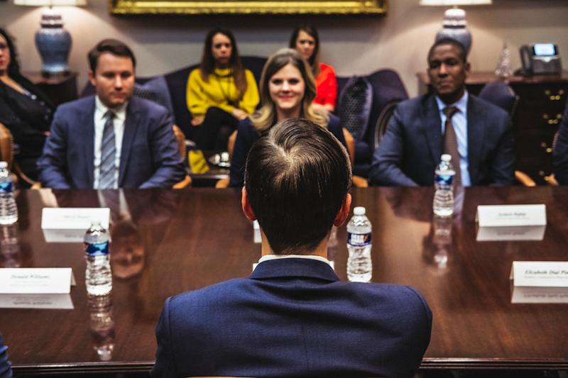 Kushner in a meeting at the White House on Dec. 19.   Christopher Lee for TIME