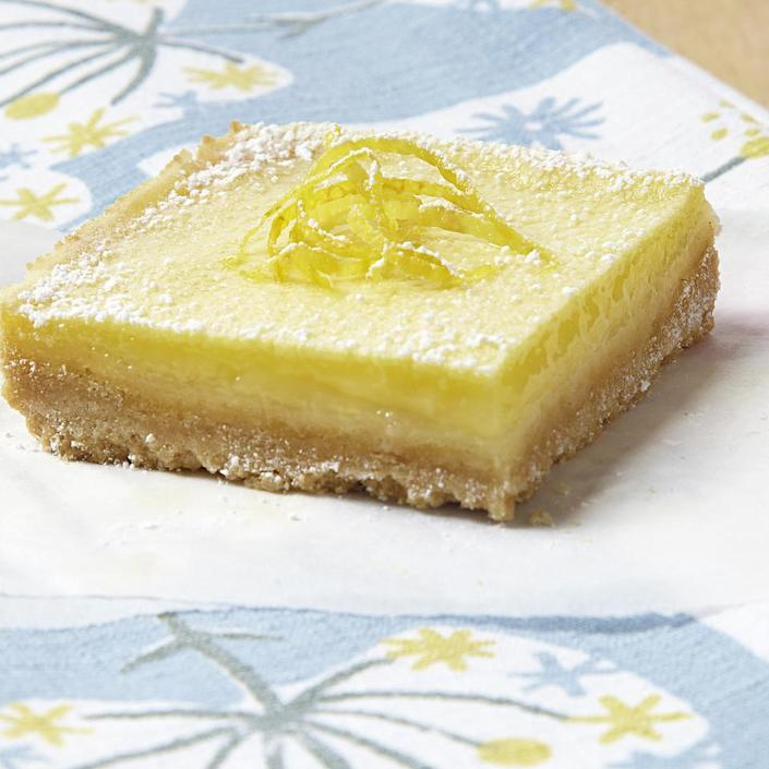 <p>Lemon squares are so delicious, but classic lemon square recipes tip the scales with their calories and saturated fat. Our healthy lemon squares recipe shaves almost 200 calories and more than 5 grams of saturated fat per lemon square. For a variation, use lime juice in place of the lemon juice.</p>