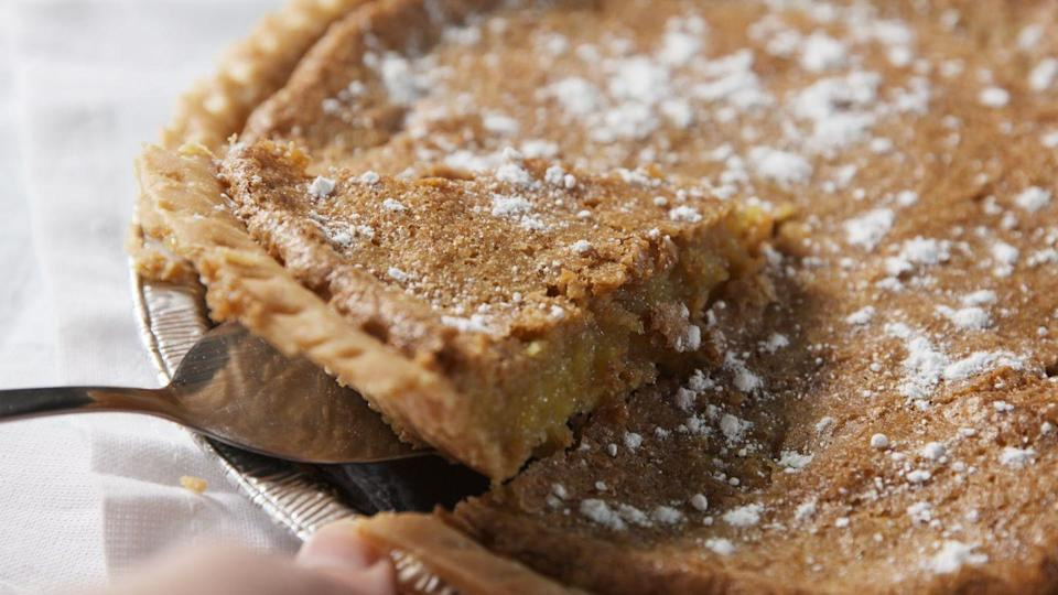 """<p>We turned the classic drink into a next-level pie.</p><p>Get the recipe from <a href=""""https://www.delish.com/cooking/recipe-ideas/recipes/a47679/sweet-tea-pie-recipe/"""" rel=""""nofollow noopener"""" target=""""_blank"""" data-ylk=""""slk:Delish"""" class=""""link rapid-noclick-resp"""">Delish</a>.</p>"""