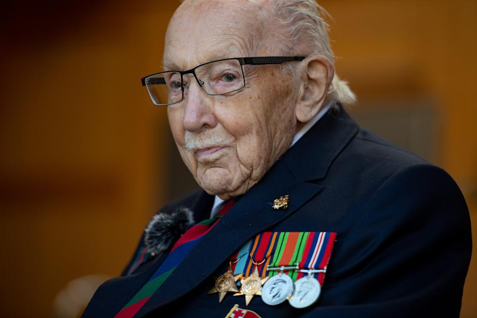 """File photo dated 24/9/2020 of Captain Sir Tom Moore who will feature in the televised Festival of Remembrance and said it is """"incredibly important"""" to remember those who made the ultimate sacrifice."""