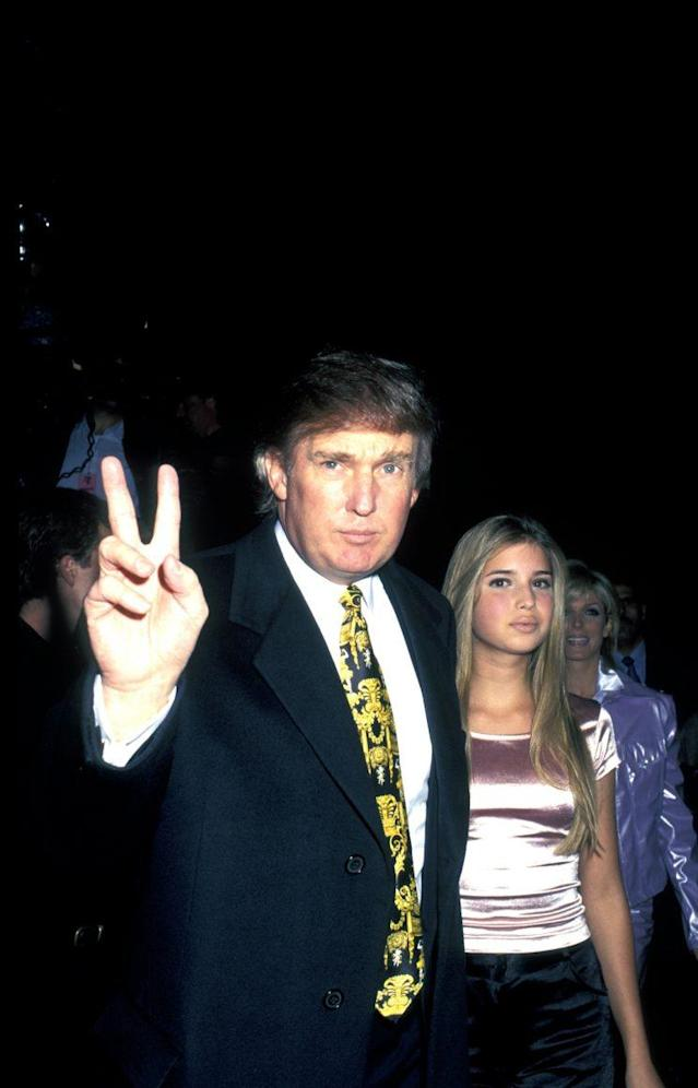 Donald Trump and Ivanka Trump in 1995. (Photo by Ron Galella/WireImage)