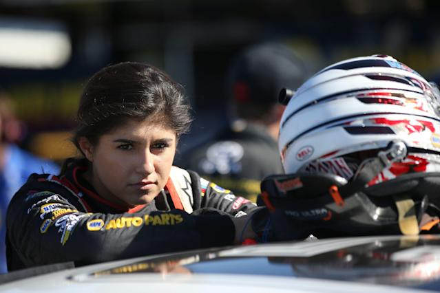 Hailie Deegan has her sights set on making it to NASCAR's Cup Series. (Getty Images)