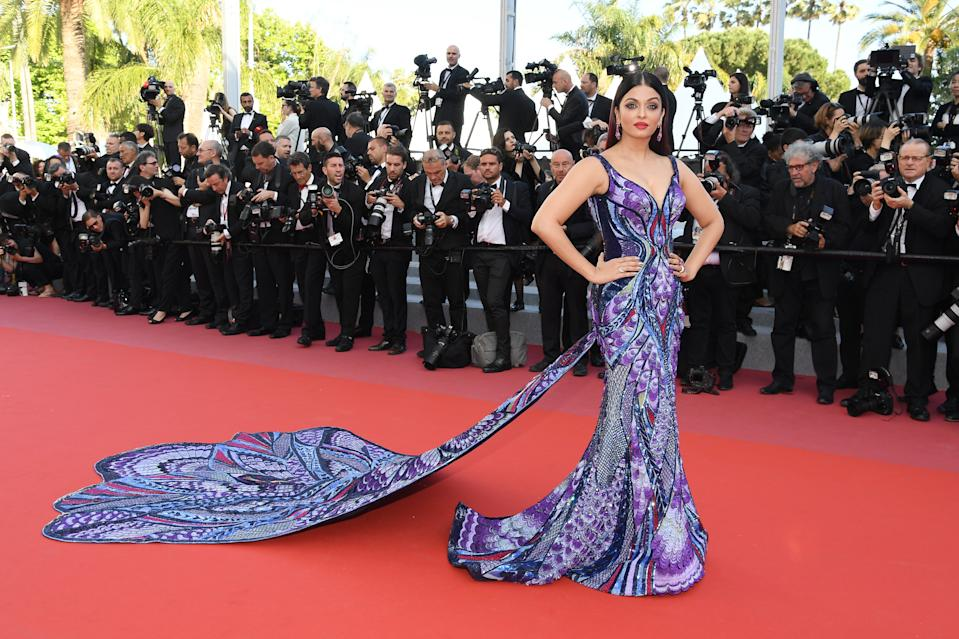 """Aishwarya Rai Bachchan attends the screening of """"Girls Of The Sun (Les Filles Du Soleil)"""" during the 71st annual Cannes Film Festival at Palais des Festivals on May 12, 2018 in Cannes, France."""
