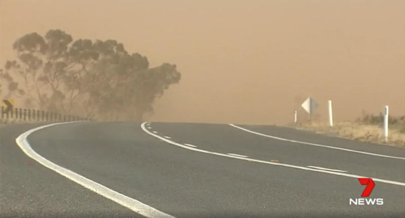 The crash happened amid extreme dust storm conditions. Source: 7 News