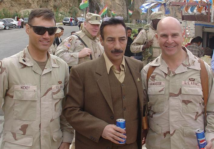 Tal Afar Mayor Najim al-Jibouri (center) with then Col. H.R. McMaster (right) in January 2006. (Photo: Cpt. Samuel P.M. Cook/MCT/MCT via Getty Images)