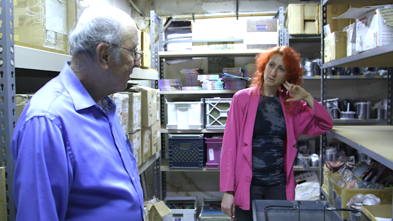 Barry and Rachel Mason in the stockroom at Circus of Books. (Photo: Netflix)
