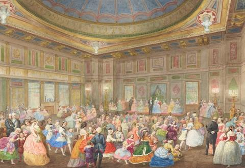 Eugenio Agneni, The Children's Fancy Ball at Buckingham Palace, 7th April 1859 - Credit: © Her Majesty Queen Elizabeth II