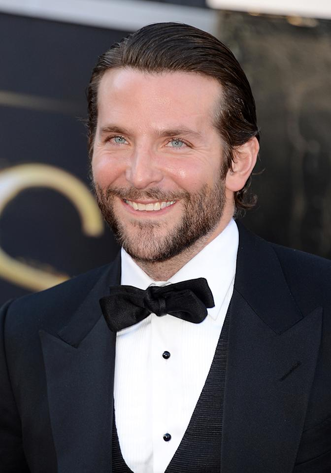 Bradley Cooper arrives at the Oscars in Hollywood, California, on February 24, 2013.