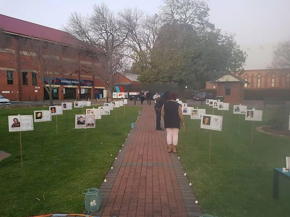 Suzie founded 'Leave A Light On' in 2015 in memory of her sister and all missing persons. Every year, LALO holds a function with a 'Reflections Area' where family and friends can remember missing loved ones via photos and messages. Photo: Suzie Ratcliffe (supplied).