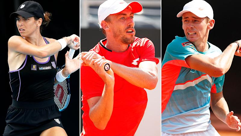 Seen here are three players flying the flag for Australia at the French Open.