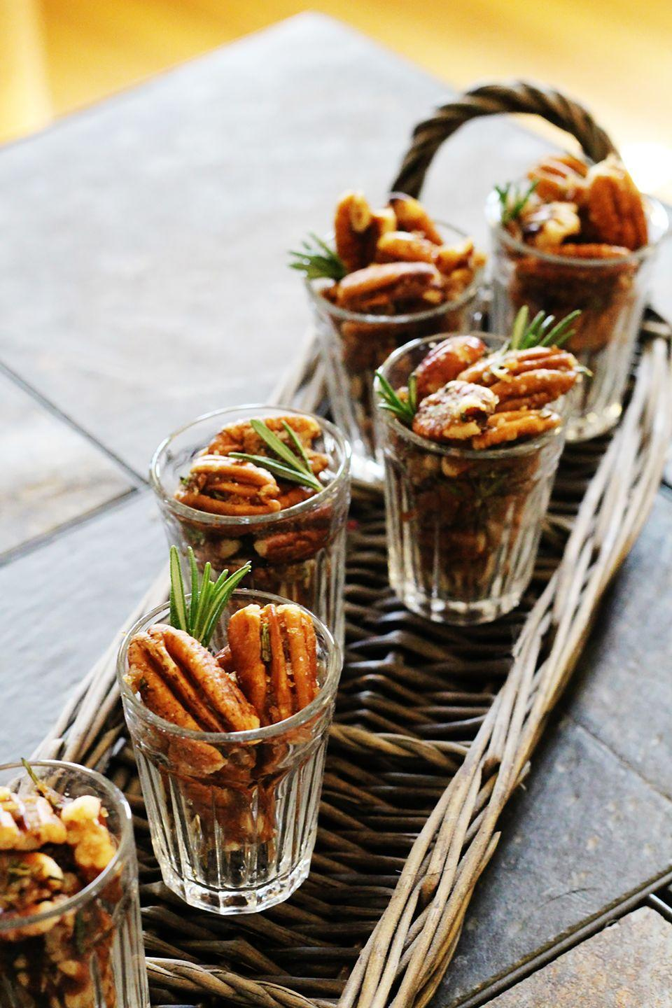 """<p>Toss pecans with butter and brown sugar, then toast them and sprinkle with sea salt for a tasty bar snack.</p><p><strong>Get the recipe at </strong><strong><a href=""""https://savory-pantry.squarespace.com/blog/2014/4/28/recipe-brown-sugar-brown-butter-derby-pecans"""" rel=""""nofollow noopener"""" target=""""_blank"""" data-ylk=""""slk:Taste.Savor.Share"""" class=""""link rapid-noclick-resp"""">Taste.Savor.Share</a>.</strong></p>"""