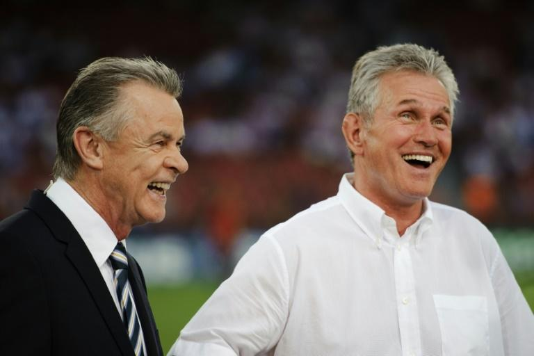 Former Bayern Munich press officer Markus Hoerwick says Ottmar Hitzfeld (R) and Jupp Heynckes (L) were the best coaches he worked with during 30 years at the Bundesliga giants