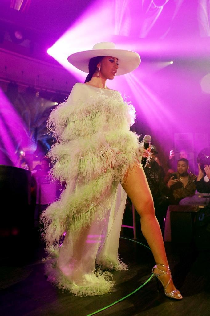 Lines snaked around the block to get into Vegas' newest club Kaos as fans clamored to see high-octane performers including Cardi, Colombian reggaeton star J Balvin and rapper G-Eazy launch their residences there (AFP Photo/Roger Kisby)