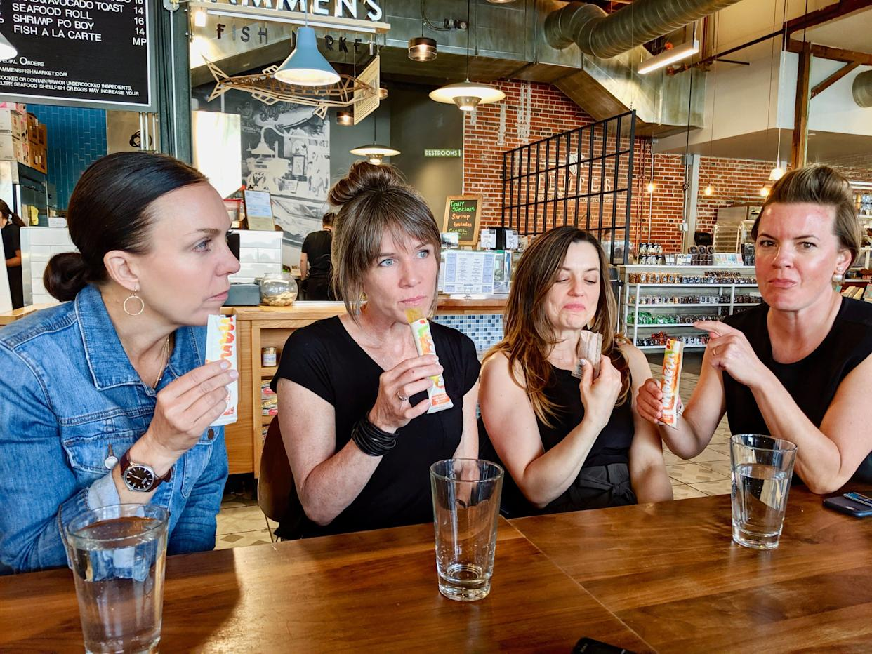 Erika Thomas (right) and her friends tasted 21 flavors of boozy pops. (Photo: HuffPost Life)