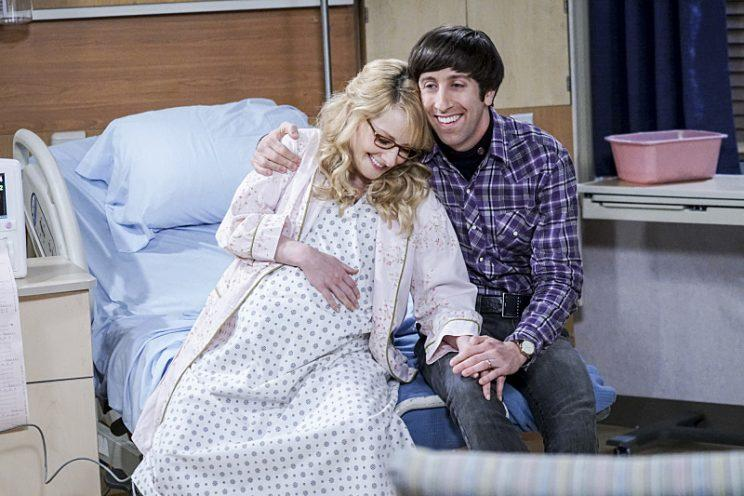 Melissa Rauch and Simon Helberg