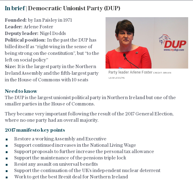 In brief | Democratic Unionist Party (DUP)