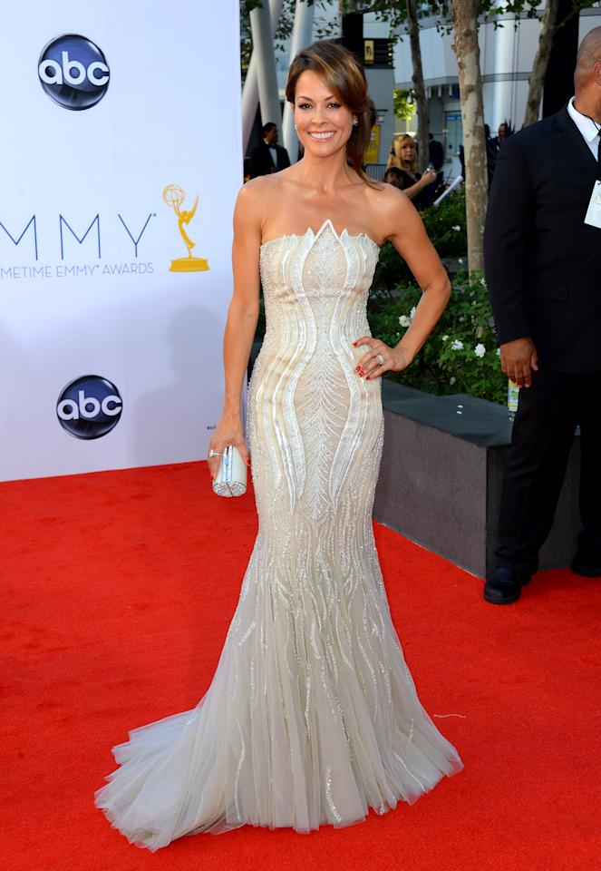 LOS ANGELES, CA - SEPTEMBER 23:  TV personality Brooke Burke arrives at the 64th Annual Primetime Emmy Awards at Nokia Theatre L.A. Live on September 23, 2012 in Los Angeles, California.  (Photo by Frazer Harrison/Getty Images)