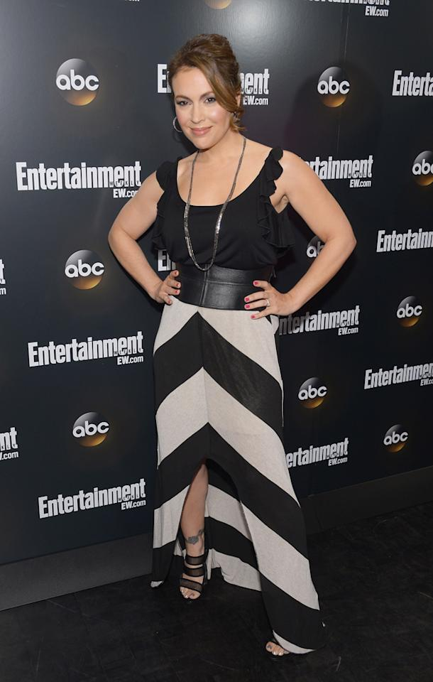 "Alyssa Milano (""Mistresses"") attends the Entertainment Weekly and ABC Upfront VIP Party at Dream Downtown on May 15, 2012 in New York City."