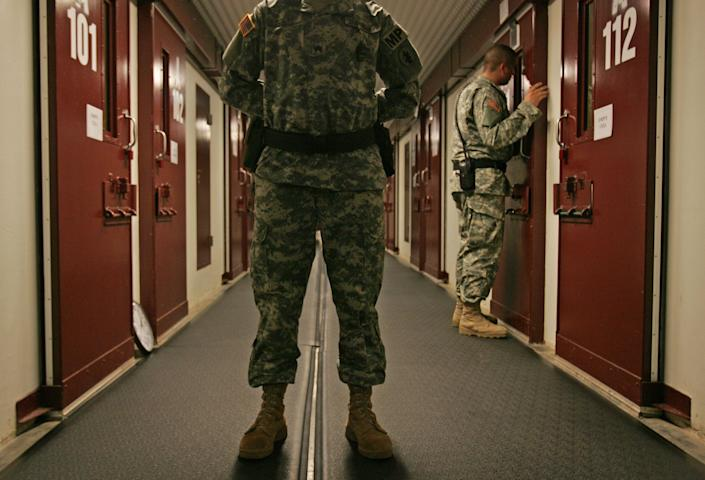 """Almost 800 prisoners accused of terrorism have have been held at the <a href=""""http://www.hrw.org/news/2012/01/06/guantanamo-ten-years"""">U.S. military prison of Guantánamo</a>, Cuba, where they are detained indefinitely without facing trial. The United States has drawn international criticism from human rights defenders for subjecting the detainees there to torture and other cruel treatment. The Cuban government opposes hosting the U.S. naval base on its soil."""