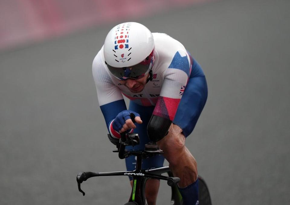Great Britian's Jaco van Gass in the Men's C3 Time Trial (Tim Goode/PA) (PA Wire)