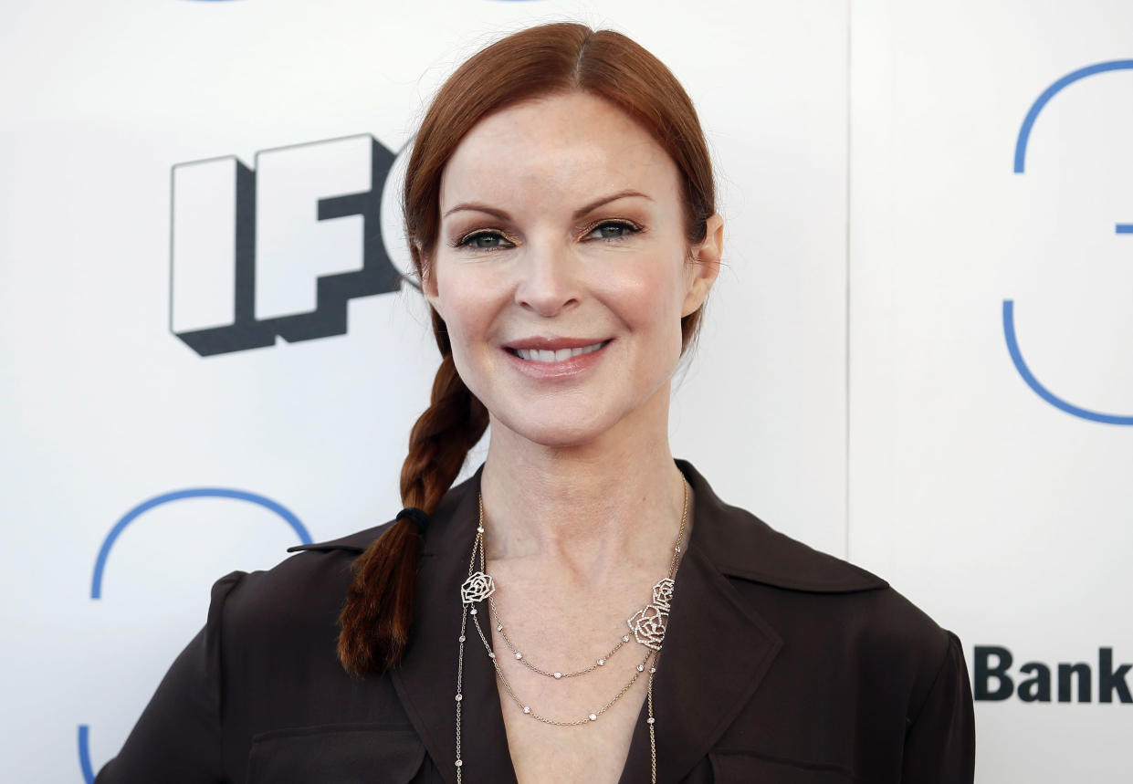 Desperate Housewives' Marcia Cross got the all-clear from anal cancer this year. [Photo: Getty]