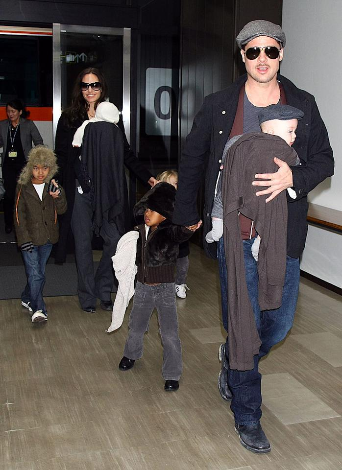 <p>With a potential divorce on the horizon, Angelina and Brad could have quite the custody battle over their six children. The pair have three adopted children in Maddox, Pax, and Zahara, and three biological children in Shiloh, and twins Knox, and Vivienne. [Photo: Getty] </p>